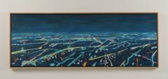 Mark Horton Aerial View of City Horizon at Night 18 x50  - 1191324