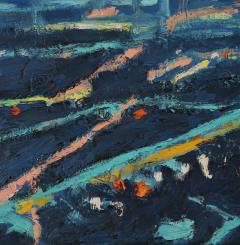 Mark Horton Aerial View of City Horizon at Night 18 x50  - 1191328