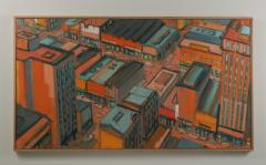 Mark Horton City in Orange and Green 32 x 58  - 1191248