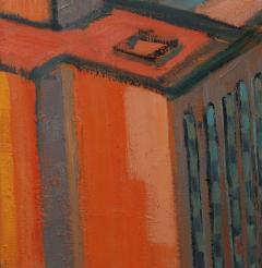 Mark Horton City in Orange and Green 32 x 58  - 1191249