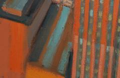 Mark Horton City in Orange and Green 32 x 58  - 1191250