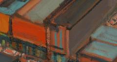Mark Horton City in Orange and Green 32 x 58  - 1191251