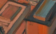Mark Horton City in Orange and Green 32 x 58  - 1191252