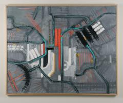 Mark Horton Map in Gray Red and White 40 x 50  - 1191237