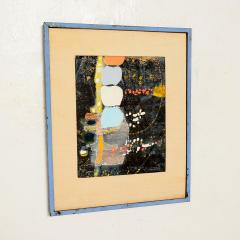 Mark Rothko Powder Blue Mixed Collage Modern Abstract Art by Fred LAROS 1966 NYC Funky Art - 1773400
