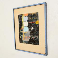 Mark Rothko Powder Blue Mixed Collage Modern Abstract Art by Fred LAROS 1966 NYC Funky Art - 1773401