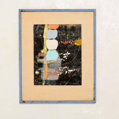 Mark Rothko Powder Blue Mixed Collage Modern Abstract Art by Fred LAROS 1966 NYC Funky Art - 1773402