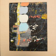 Mark Rothko Powder Blue Mixed Collage Modern Abstract Art by Fred LAROS 1966 NYC Funky Art - 1773404