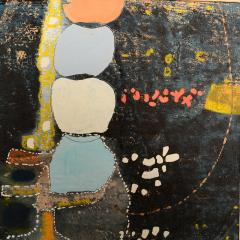 Mark Rothko Powder Blue Mixed Collage Modern Abstract Art by Fred LAROS 1966 NYC Funky Art - 1773405