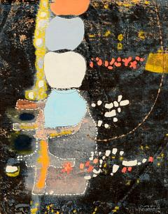 Mark Rothko Powder Blue Mixed Collage Modern Abstract Art by Fred LAROS 1966 NYC Funky Art - 1773582