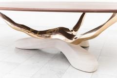 Markus Haase Markus Haase Bronze Walnut and Limestone Dining Table USA 2018 - 852582