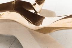 Markus Haase Markus Haase Bronze Walnut and Limestone Dining Table USA 2018 - 852583