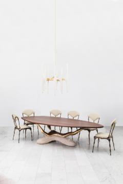 Markus Haase Markus Haase Bronze Walnut and Limestone Dining Table USA 2018 - 852590