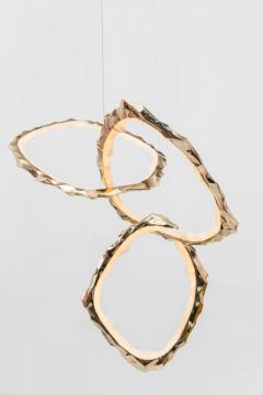 Markus Haase Markus Haase Bronze and Onyx Circlet Chandelier USA 2018 - 848461