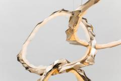 Markus Haase Markus Haase Bronze and Onyx Circlet Chandelier USA 2018 - 848462