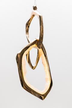 Markus Haase Markus Haase Bronze and Onyx Circlet Pendant USA 2019 - 938831