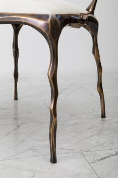 Markus Haase Markus Haase Faceted Bronze Patina Dining Chair USA 2018 - 852608