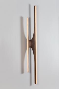 Markus Haase Markus Haase Walnut and Onyx Sculptural Sconce USA 2016 - 193972