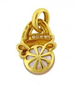 Marlene Stowe Marlene Stowe Mabe Pearl Diamond Gold Drop Pendant - 1018252