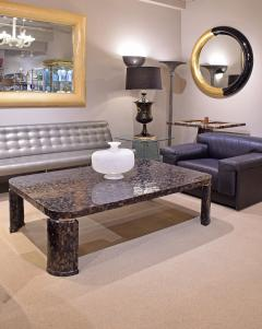 Marquis Collection of Beverly Hills Superb Coffee Table in Tessellated Abalone Shells 1980s Signed  - 1965462