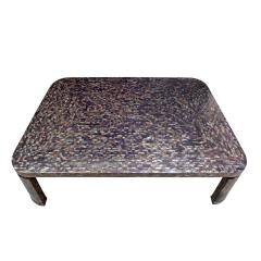Marquis Collection of Beverly Hills Superb Coffee Table in Tessellated Abalone Shells 1980s Signed  - 1965465