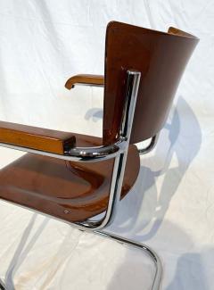 Mart Stam Bauhaus Cantilever Steeltube Armchair S43F by Mart Stam Czechia 1930s - 1935555