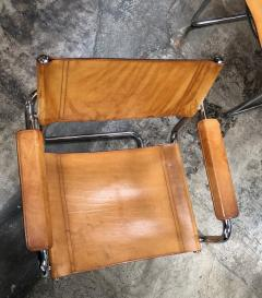 Mart Stam Mart Stam Six Italian Leather Armchairs 1950s - 1083906