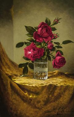 Martin Johnson Heade Glasses of Roses on a Gold Cloth - 692851