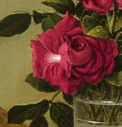 Martin Johnson Heade Glasses of Roses on a Gold Cloth - 692852