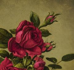 Martin Johnson Heade Glasses of Roses on a Gold Cloth - 692853