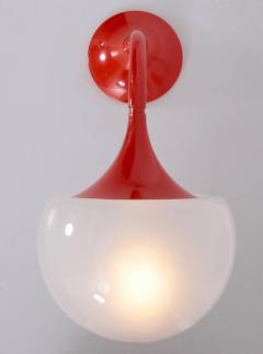 Martinelli Luce Pair of Martinelli Luce Wall Lamps in Hot Orange - 560417