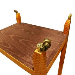 Mary Forssberg Mary Forssberg Table In Apricot Python and Madagascar Cloth Tops 2019 Signed  - 1026617