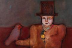 Mary Spain Magic Man Oil on Canvas by Mary Spain - 1406021