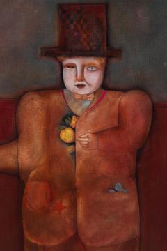 Mary Spain Magic Man Oil on Canvas by Mary Spain - 1406027