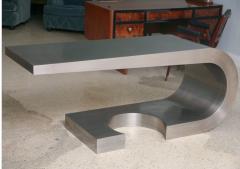 Marzio Cecchi A Rare Marzio Cecchi Stainless Steel Desk Console - 529105