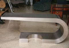Marzio Cecchi A Rare Marzio Cecchi Stainless Steel Desk Console - 529108