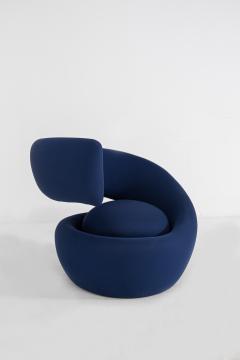 Marzio Cecchi Italian armchairs by Marzio Cecchi in fabric blue 1970s - 1969728