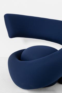 Marzio Cecchi Italian armchairs by Marzio Cecchi in fabric blue 1970s - 1969730