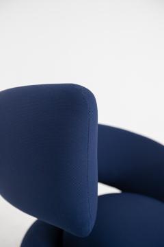 Marzio Cecchi Italian armchairs by Marzio Cecchi in fabric blue 1970s - 1969737