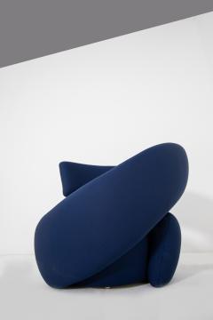 Marzio Cecchi Italian armchairs by Marzio Cecchi in fabric blue 1970s - 1969745