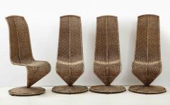 Marzio Cecchi Set of Four Marzio Cecchi Model S Chairs Italy - 1812088