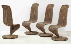 Marzio Cecchi Set of Four Marzio Cecchi Model S Chairs Italy - 1812092