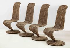 Marzio Cecchi Set of Four Marzio Cecchi Model S Chairs Italy - 1812095