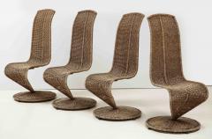 Marzio Cecchi Set of Four Marzio Cecchi Model S Chairs Italy - 1812096