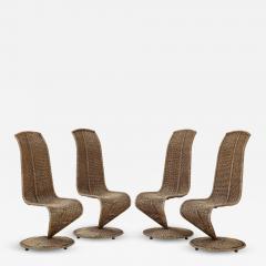 Marzio Cecchi Set of Four Marzio Cecchi Model S Chairs Italy - 1813680