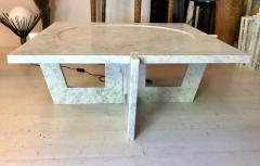 Massimo Mangiardi Italian White Carrara Marble Modern Coffee Table by Massimo Mangiardi - 1696267