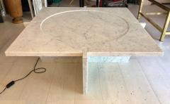 Massimo Mangiardi Italian White Carrara Marble Modern Coffee Table by Massimo Mangiardi - 1696275