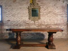 Massive 19th Century French Elm and Oak Trestle Table - 1307513