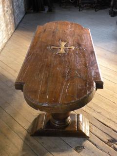 Massive 19th Century French Elm and Oak Trestle Table - 1307515