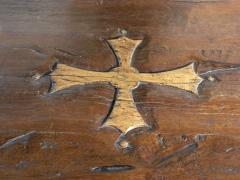 Massive 19th Century French Elm and Oak Trestle Table - 1307516